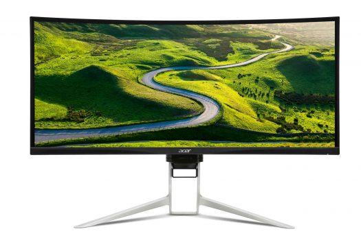Acer XR382CQK kaareva pelinäyttö ips paneelilla