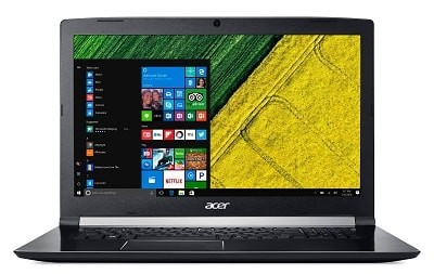 Acer Aspire 7 A717-71G kannettava tietokone isolla näytöllä ja hyvillä ominaisuuksilla