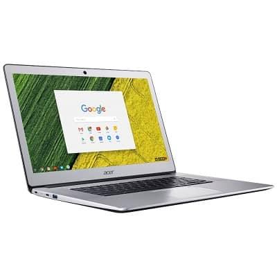 Acer Chromebook 15 kannettava tietokone Chrome OS -käyttöjärjestelmällä.