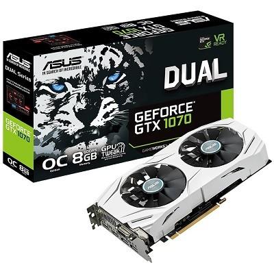Asus Dual GeForce GTX 1070 OC näytönohjain 8 gb muistilla