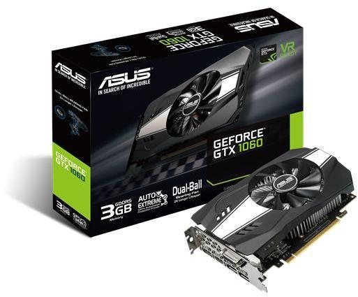 Asus GeForce GTX 1060 3GB PH-GTX1060 näytönohjain 3 gb muistilla