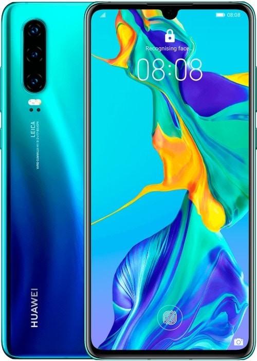 Uusi Huawei P30 -älypuhelin monipuolisilla kameroilla varustettuna